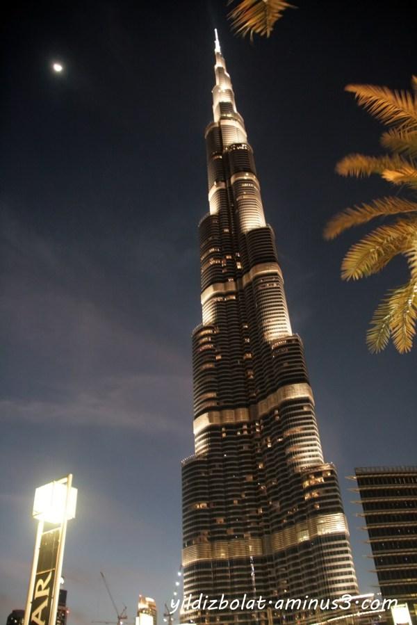 At night at Burj Khalifa