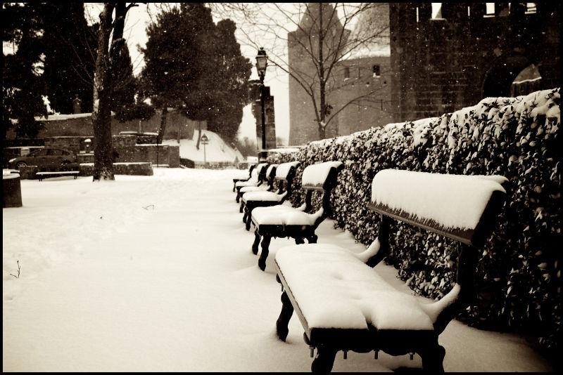 La cité sous la neige