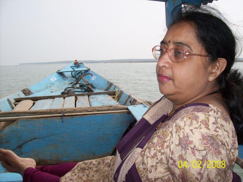 Lady Enjoying Boat Ride in Chilka Lake