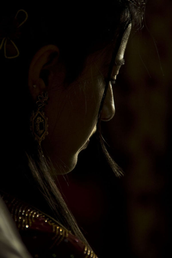 Pensive in prayer