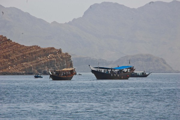 Tourist dhows in Musandam