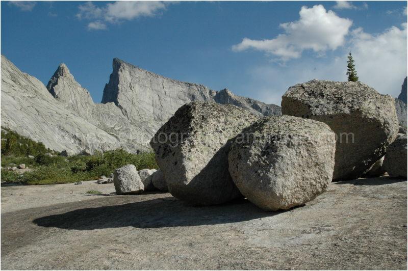 Rocks in the Wind River Range