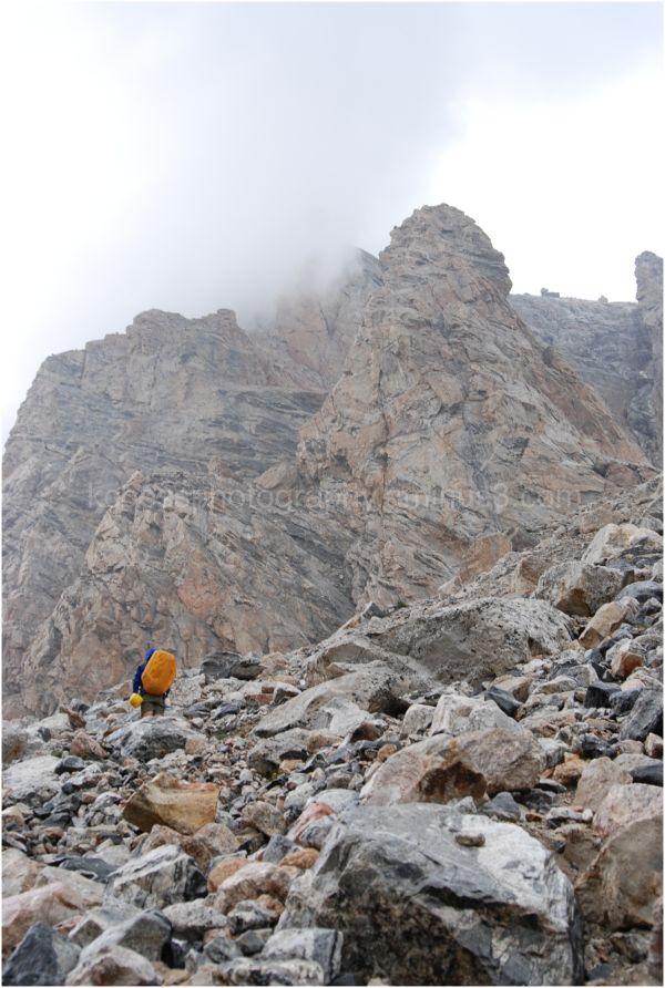 Hiker in the Teton's