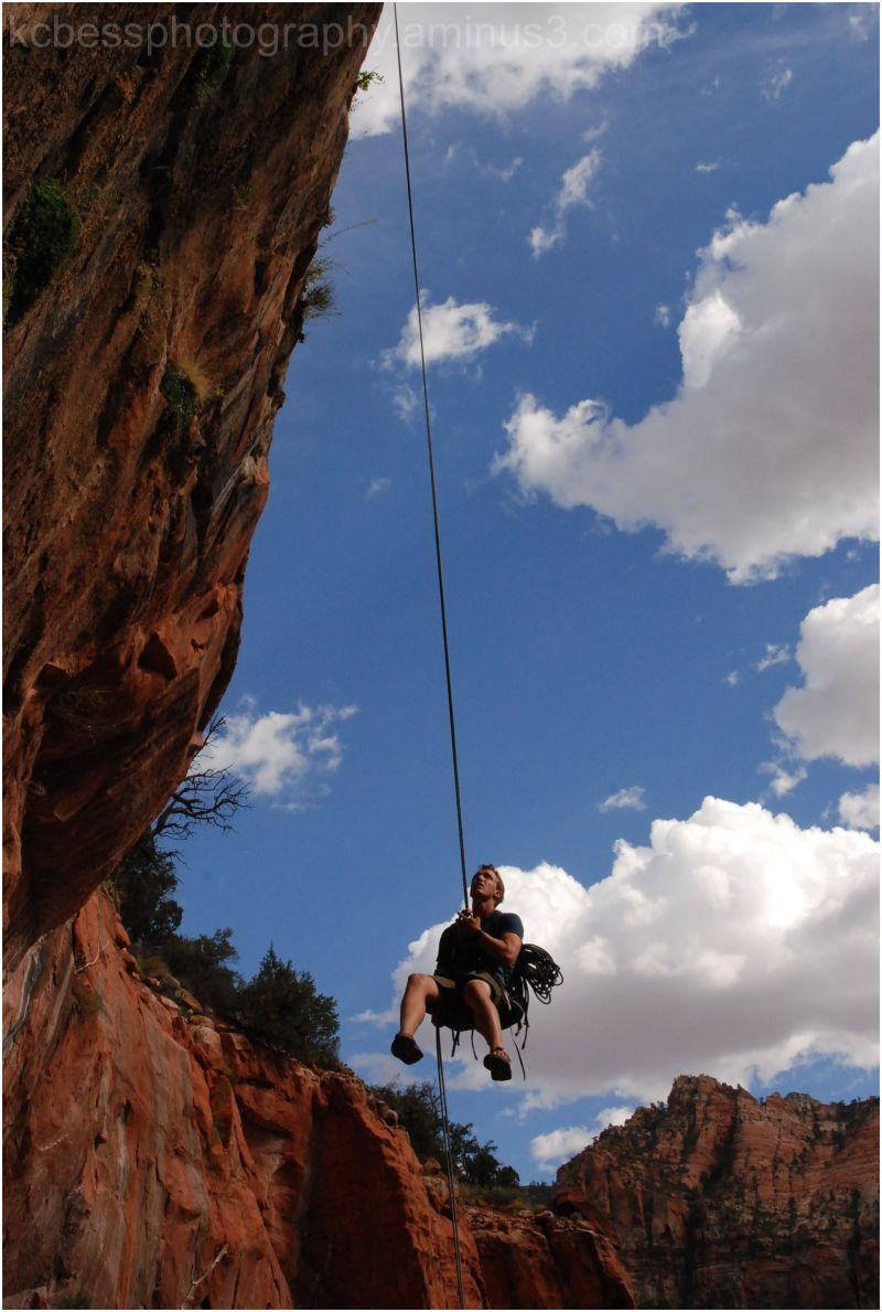 rappel in Spry Canyon in Zion National Park