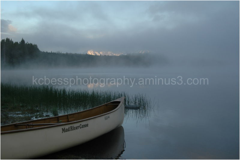 canoe on two ocean lake