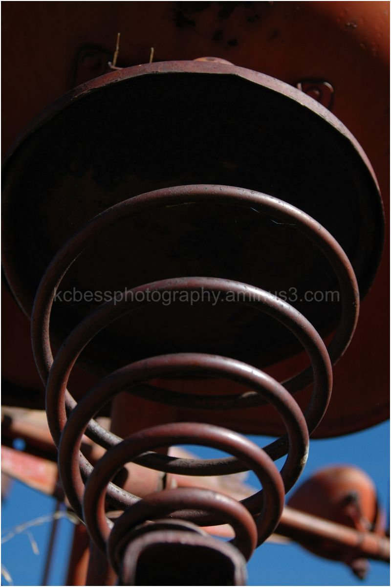 seat spring on a tractor