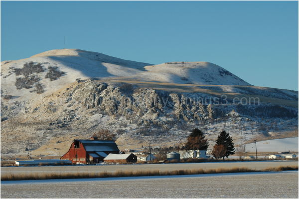 Red Barn in Cache Valley