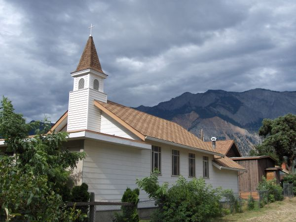 Church, Mountains, Lillooet