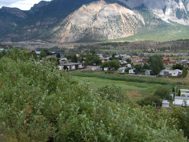 Lillooet, Town, foot of the mountains