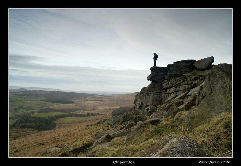 Looking out from Stannage Edge