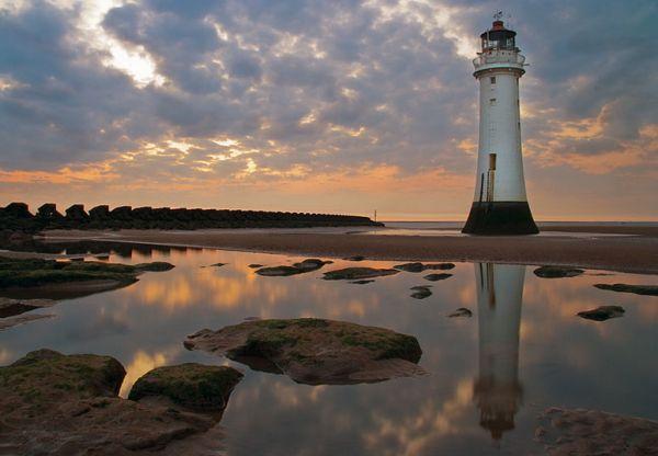 Lighthouse at sundown