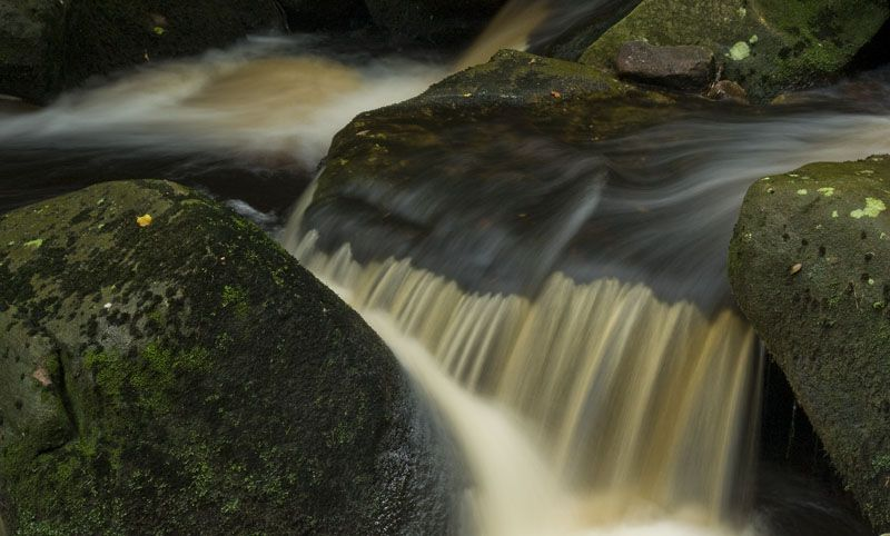 Padley Gorge Peat coloured after The Rain