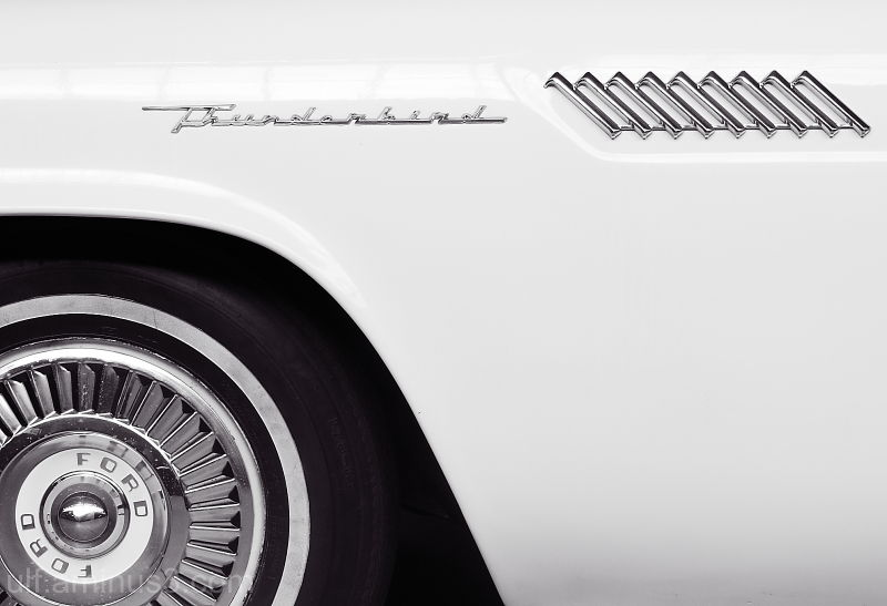 Detail on a Ford Thunderbird