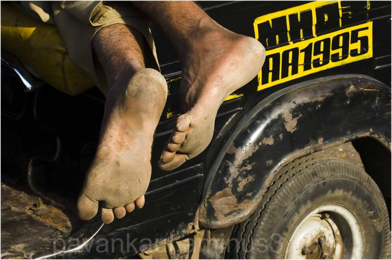 Auto Driver sleeping in Vehicle