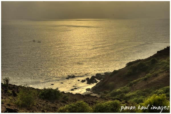 sunset from fort Aguada
