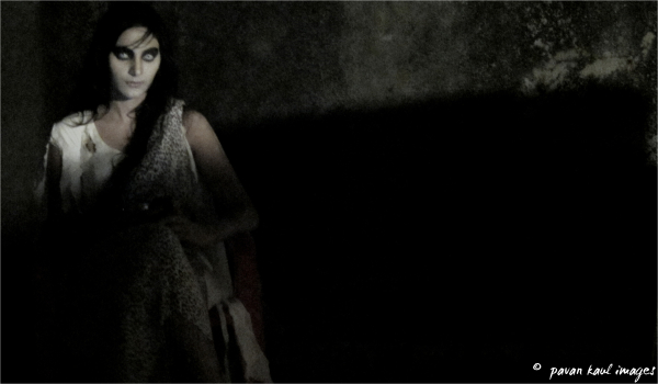 spooky looking woman