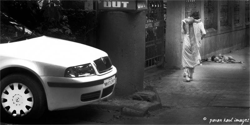 woman & children street dwellers