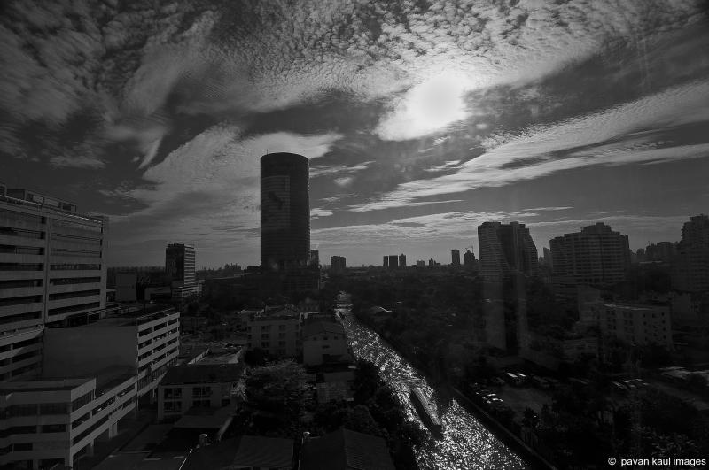bangkok skyline view