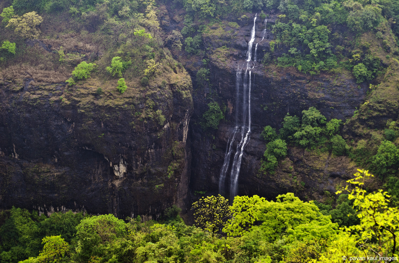 monsoon waterfall in hills