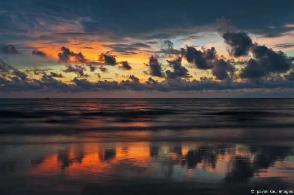 twilight on a goan beach