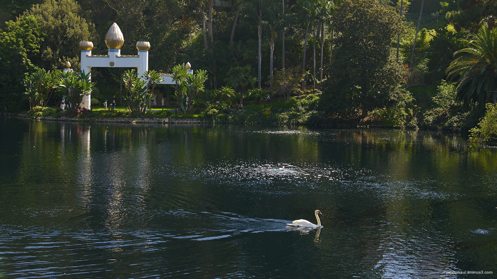 Yogananda's bliss at lake shrine los angeles