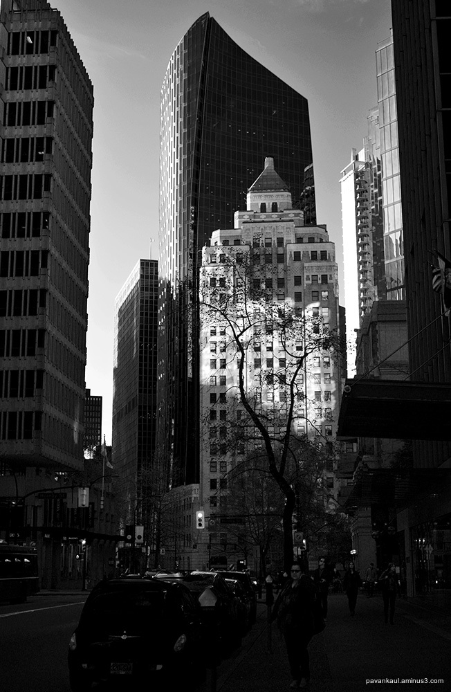 Light and shadow in downtown Vancouver