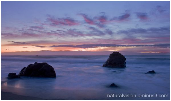 four rocks at sunset, Garrapata Beach