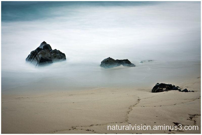 3 rocks on beach