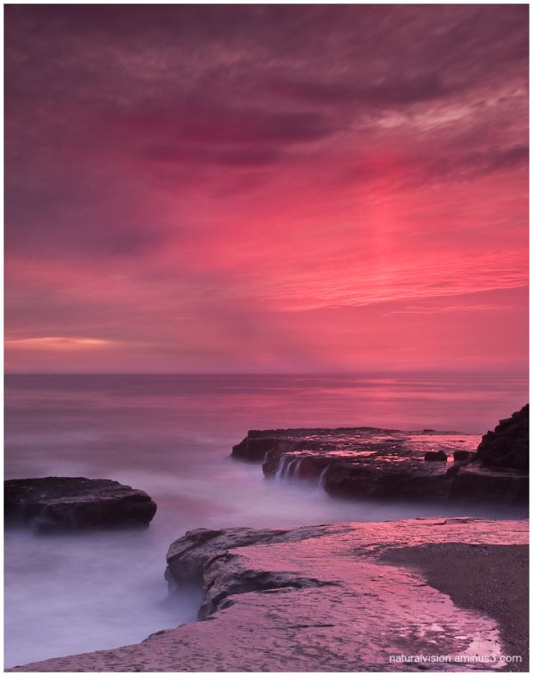 sunset at pleasure point