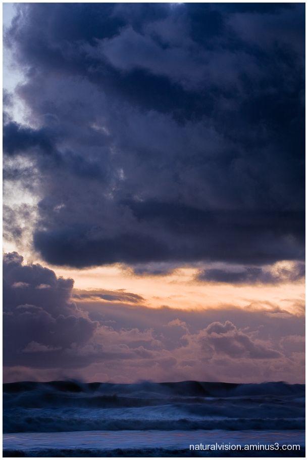 Storm clouds over La Selva Beach