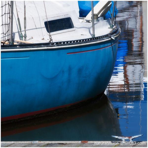 Moored sailboat at Moss Landing