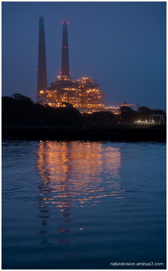 The natural gas plant at Moss Landing, CA