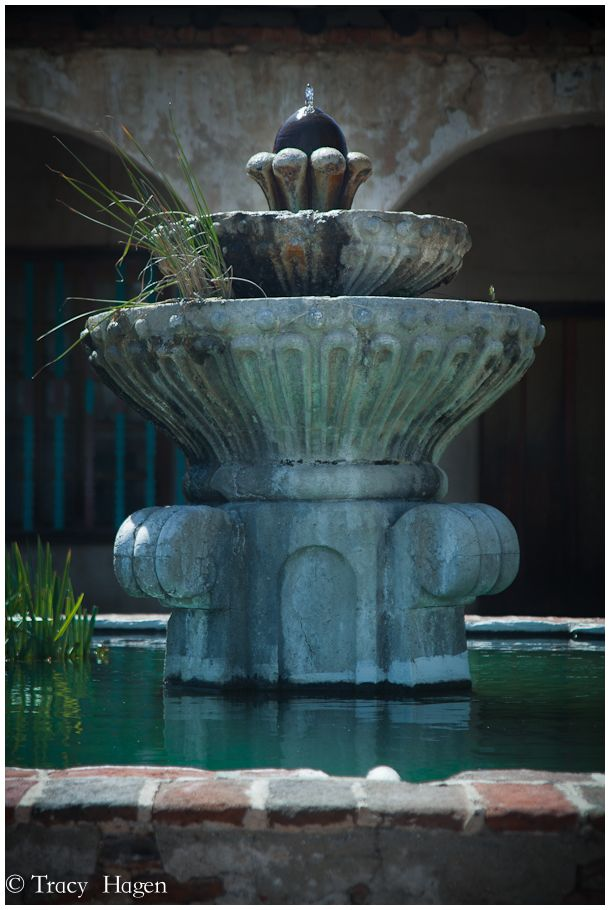 fountain at San Miguel Mission