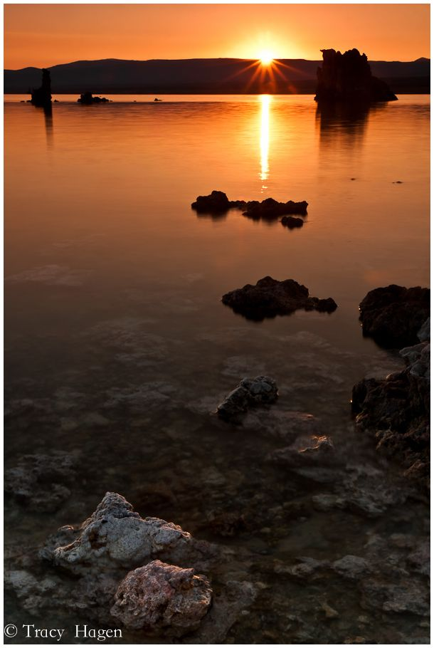 Mono sunrise sunburst