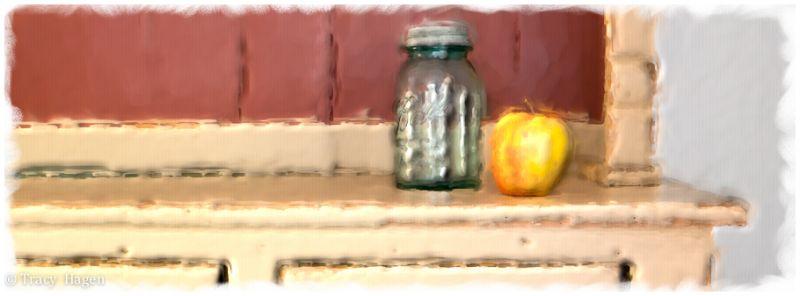 Jar and Apple