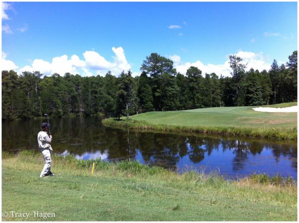 Paul golfing at Cheraw State Park