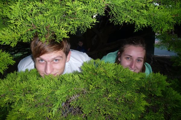 Me and Ashleigh in a tree!