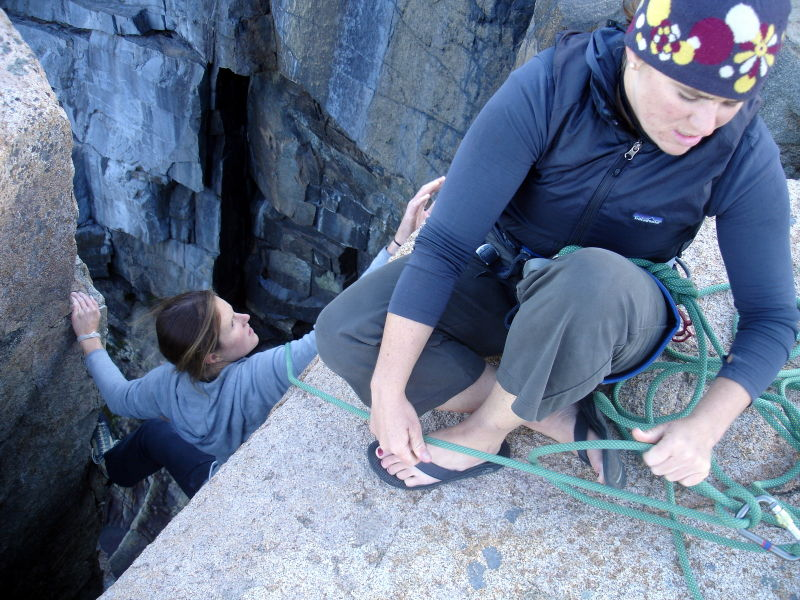 Climbing at Otter Cliffs in Acadia