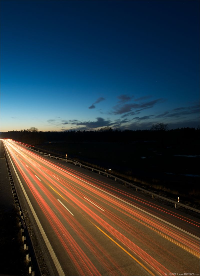 German Autobahn at night