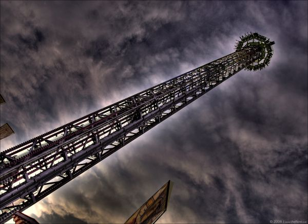 HDR shot of a FreeFall Tower