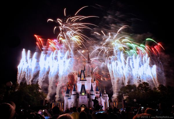 Fireworks at Magic Kingdom - Disneyworld Orlando