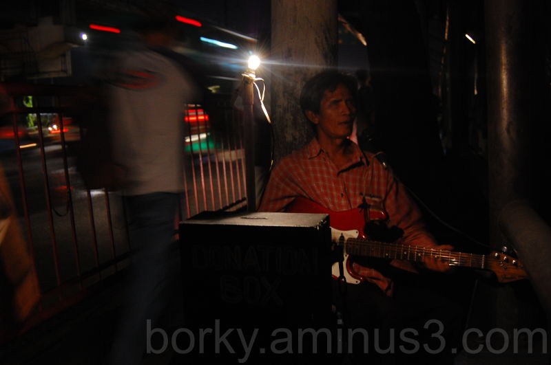 A blind beggar in Ortigas, Pasig City, Philippines