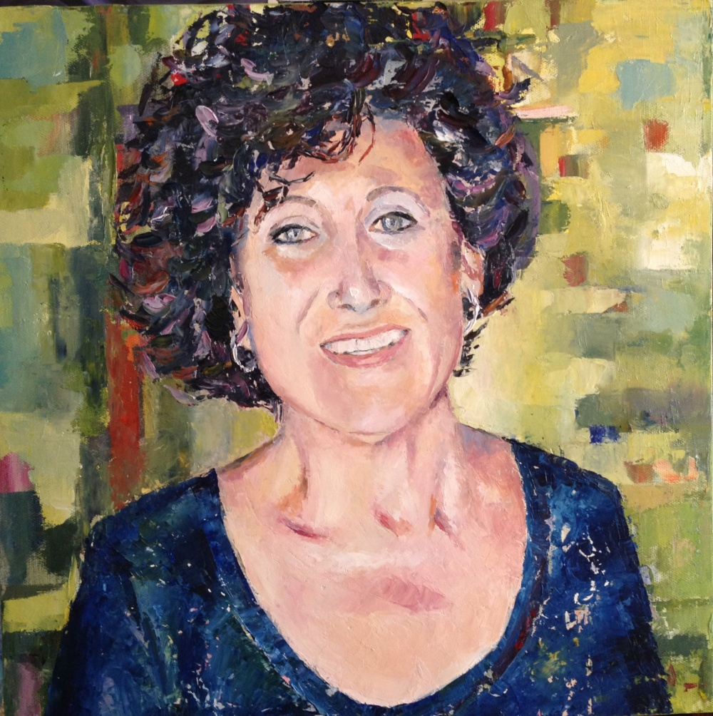 retrato óleo sobre lienzo 40x40 cm