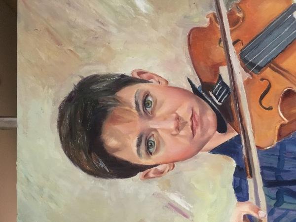 Retrato al óleo 70x64cm