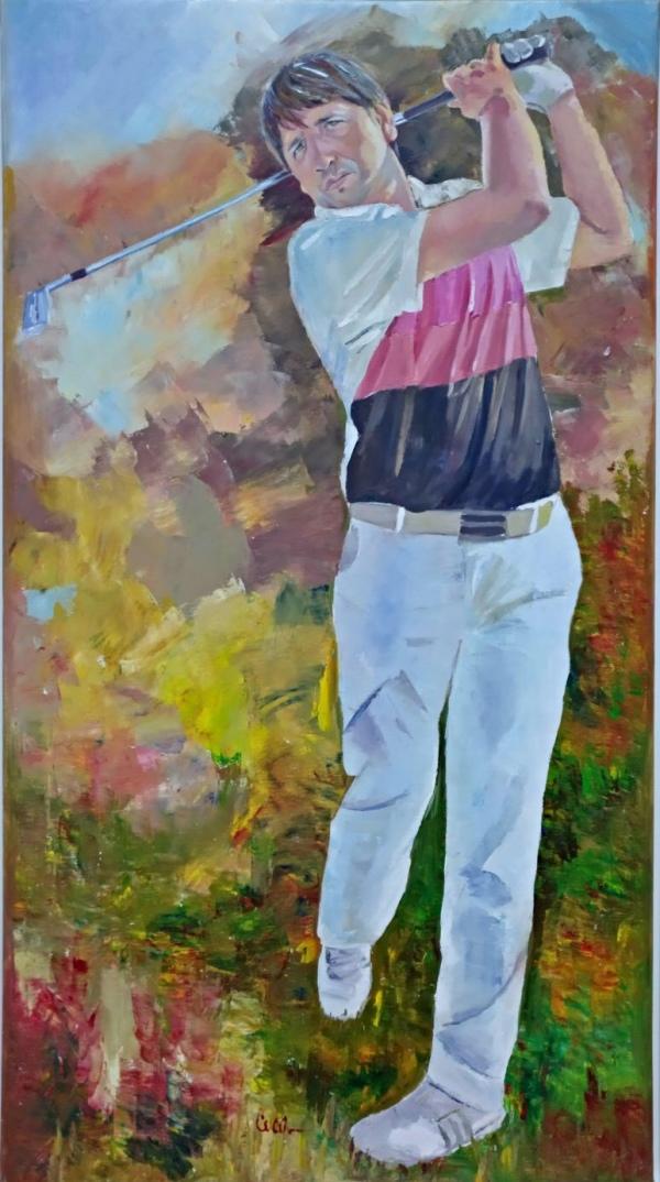 Óleo sobre lienzo retrato