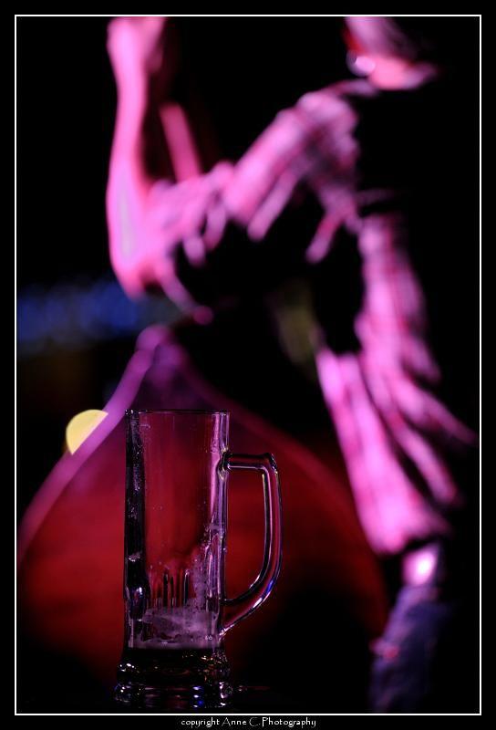 chope, bière, musique, contrebasse