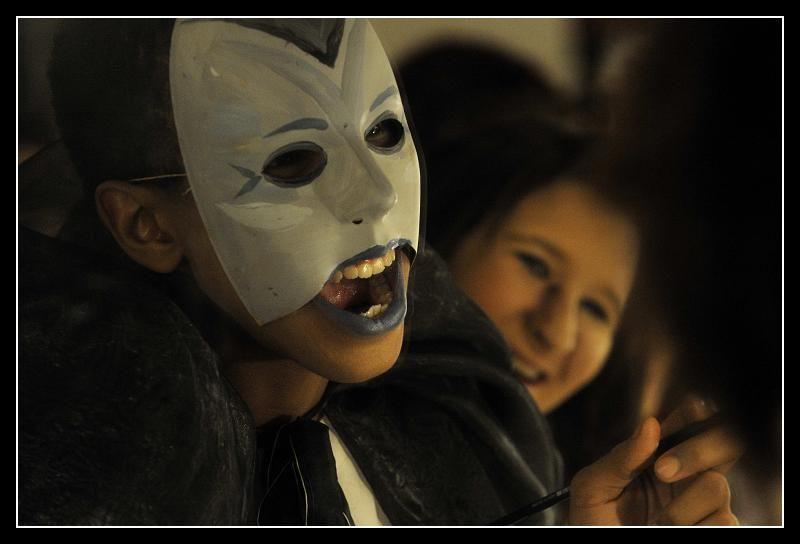 Théâtre, Ecole Steiner, Masque, loge, maquillage