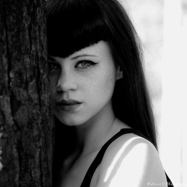 shht, N/B,portrait