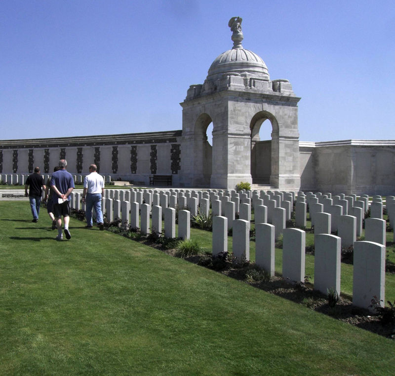 Tyne Cott cemetery WW1