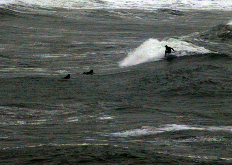 Langland Bay near Mumbles surfing